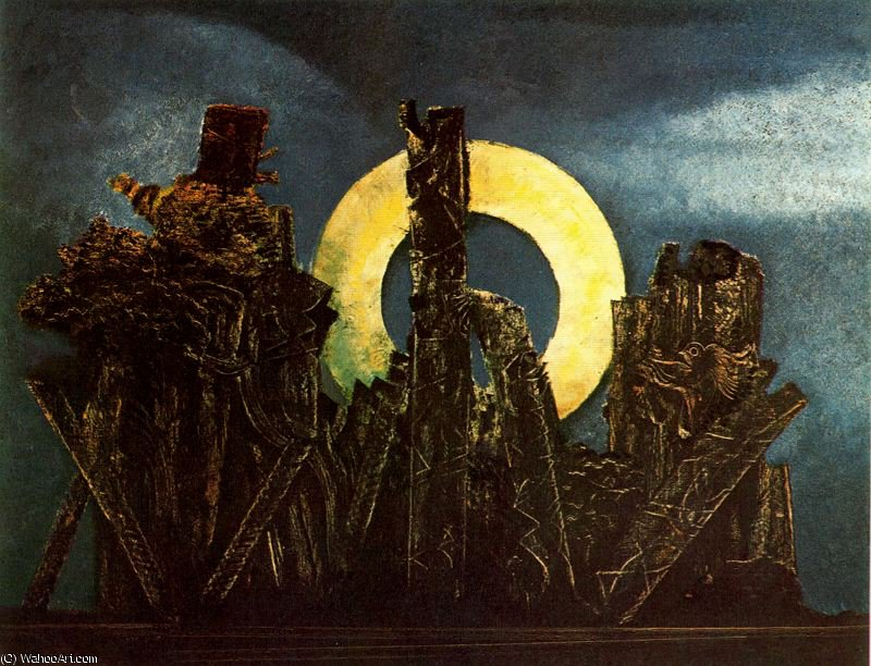 untitled (7055) by Max Ernst (1891-1976, Germany)