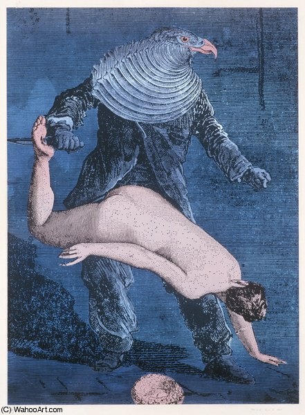 untitled (9288) by Max Ernst (1891-1976, Germany) | Art Reproduction | WahooArt.com