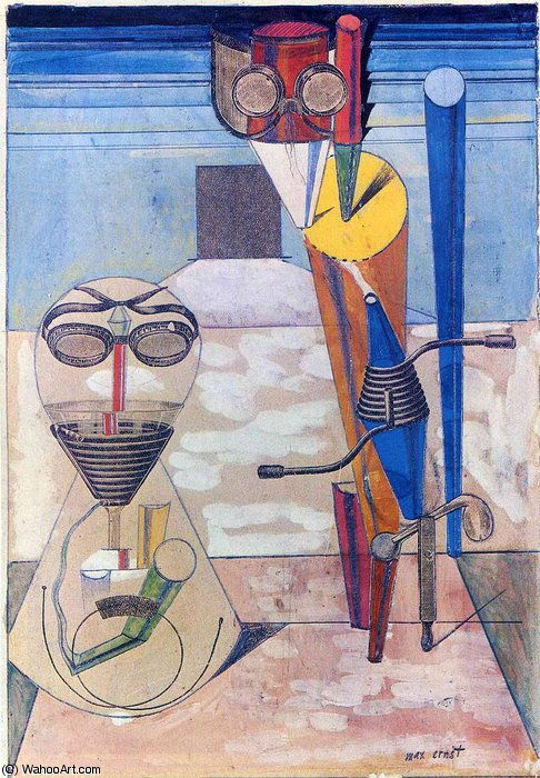 untitled (4345) by Max Ernst (1891-1976, Germany)