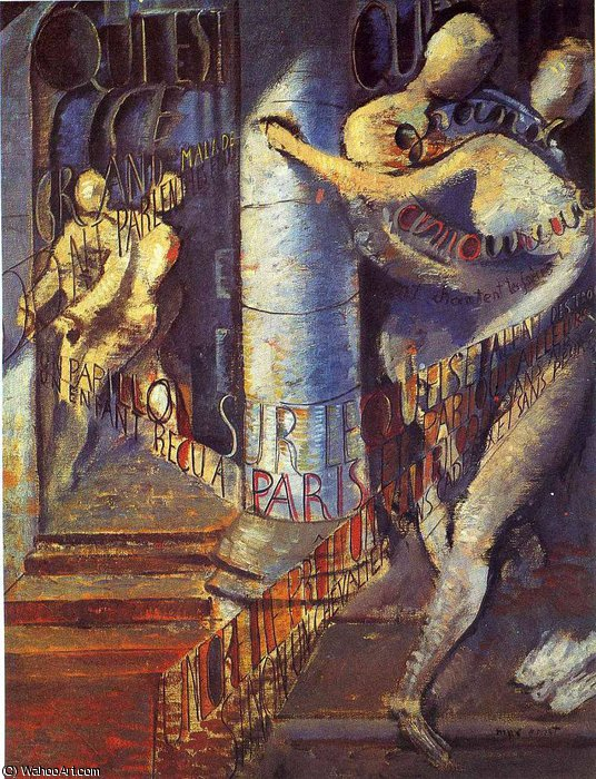 untitled (4299) by Max Ernst (1891-1976, Germany) | Painting Copy | WahooArt.com