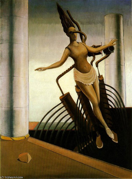 The wavering woman - -, 1923 by Max Ernst (1891-1976, Germany)