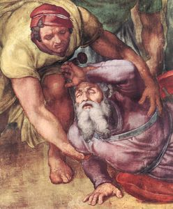Michelangelo Buonarroti - The conversion of Saul (detail - )