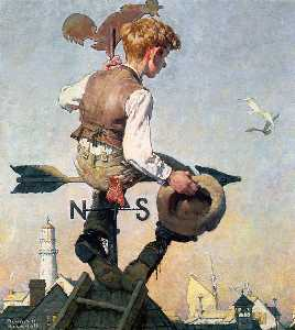 Norman Rockwell - On top of the world