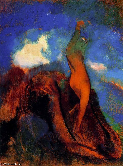 untitled (7394) by Odilon Redon (1840-1916, France) | Reproductions Odilon Redon | WahooArt.com