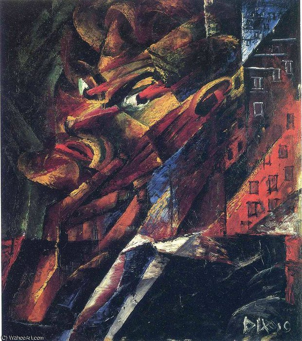 untitled (6020) by Otto Dix (1891-1969, Germany) | Famous Paintings Reproductions | WahooArt.com