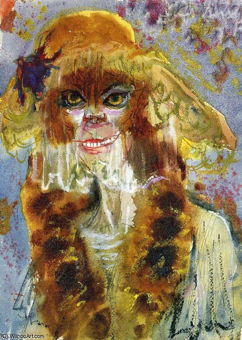 untitled (4640) by Otto Dix (1891-1969, Germany) | Painting Copy | WahooArt.com