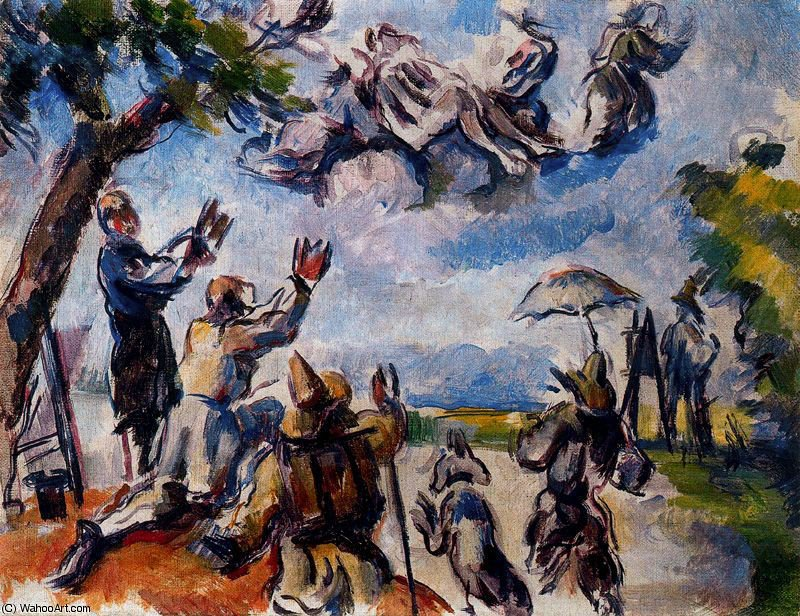 untitled (7867) by Paul Cezanne (1839-1906, France) | Famous Paintings Reproductions | WahooArt.com