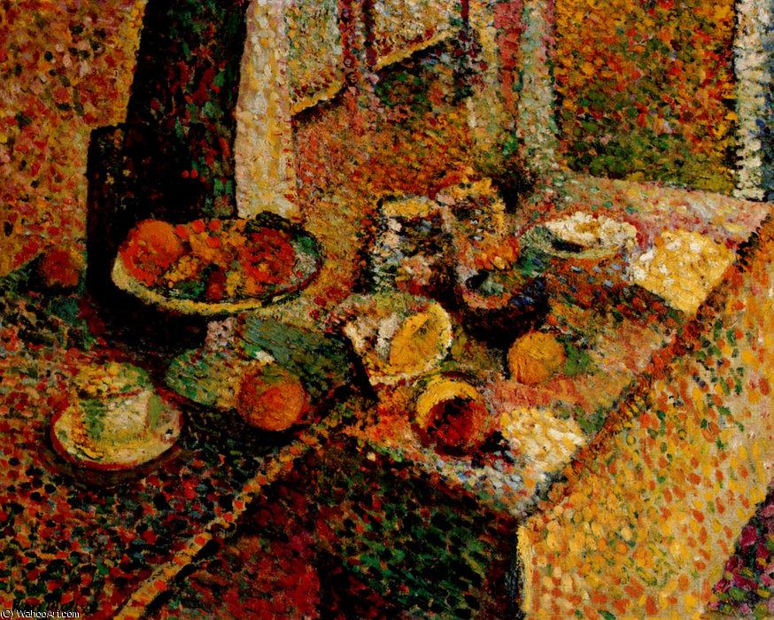 Buffet et Table Huile sur Toile Collection Particulière by Henri ...