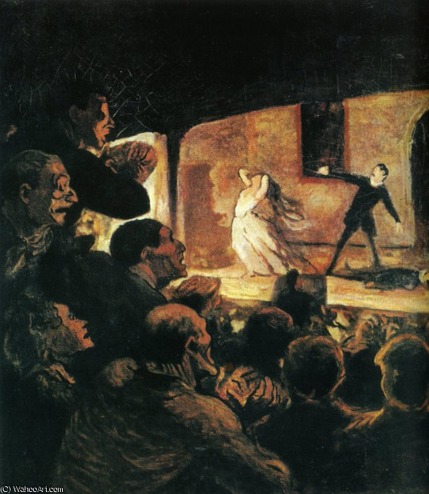 Le Drame, huile sur toile The Drama, oils on fabric by Honoré Daumier (1808-1879, France) | WahooArt.com