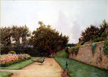 Below The Terrace by Ernest Arthur Rowe (1863-1922, United Kingdom) | Museum Quality Reproductions | WahooArt.com
