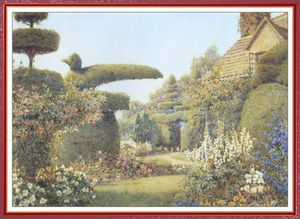 Ernest Arthur Rowe - The Cottage Garden At Haddon Hall