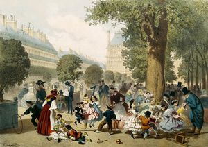 Eugene Charles Francois Guerard - The Tuileries