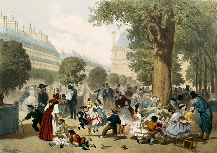 The Tuileries by Eugene Charles Francois Guerard (1821-1866, France)