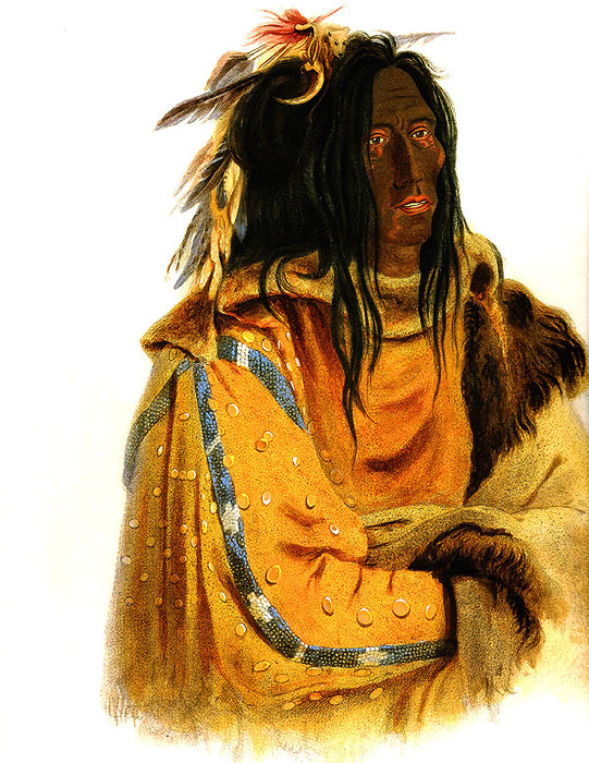 Mehkskeme-Sukahs Blackfoot Chief by Karl Bodmer (1809-1893, Switzerland) | Reproductions Karl Bodmer | WahooArt.com