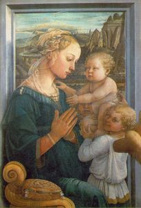 Fra Filippo Lippi - Madonna and Child with Angels - -