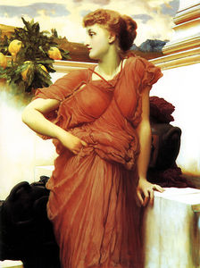 Lord Frederic Leighton - at the fountain