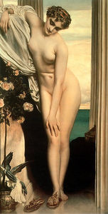 Lord Frederic Leighton - venus disrobing for the bath