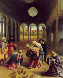 Lorenzo Lotto - Christ taking leave of his mother - -