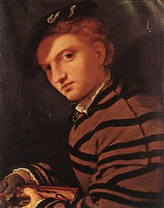 Lorenzo Lotto - Young Man with Book