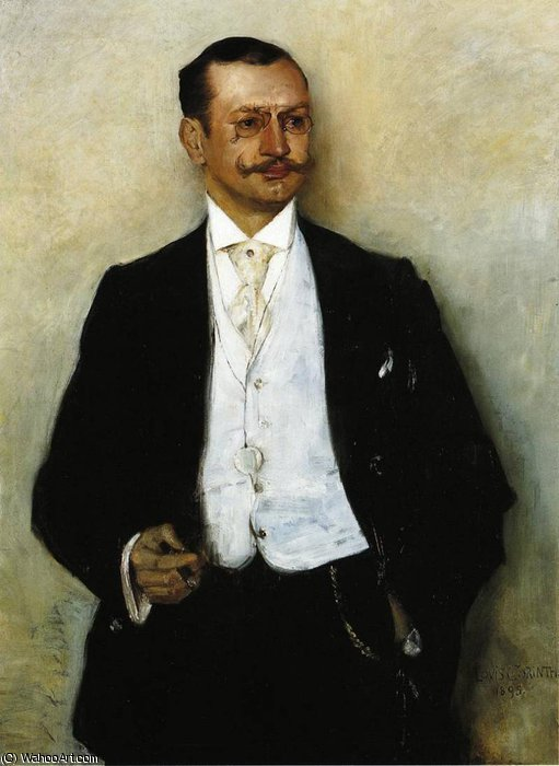 Portrait of the Painter Karl Strathmann by Lovis Corinth (Franz Heinrich Louis) (1858-1925, Netherlands)