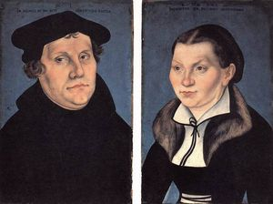 Lucas Cranach The Elder - diptych With The Portraits Of Luther And His Wife