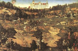 Lucas Cranach The Elder - hunt in honour of charles v at the castle of torgau