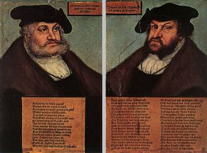Lucas Cranach The Elder - Portraits Of Johann I And Frederick III