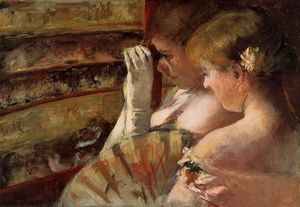 Mary Stevenson Cassatt - A Corner of the Loge aka In the Box