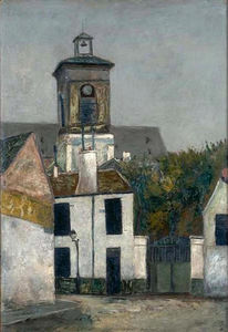 Maurice Utrillo - Chuch of Saint Margerit in Paris