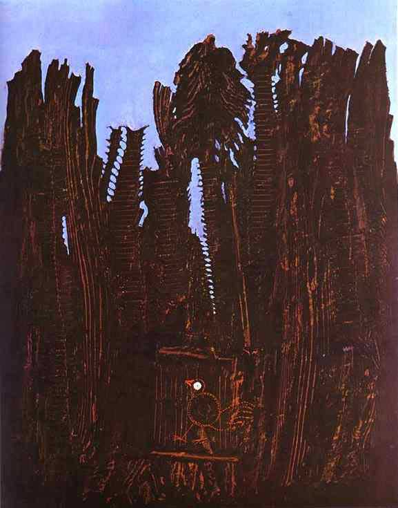 Forest and Dove, 1927 by Max Ernst (1891-1976, Germany) | WahooArt.com