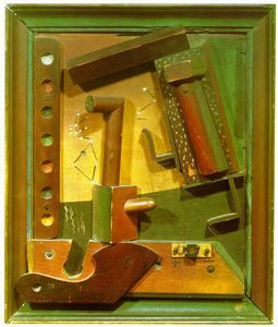 Max Ernst - Fruit of a Long Experience - Painted wood relief -