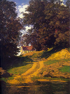 Maxfield Parrish - the country schoolhouse