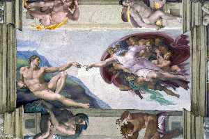 Michelangelo Buonarroti - Creation of Adam (Sistine Chapel)