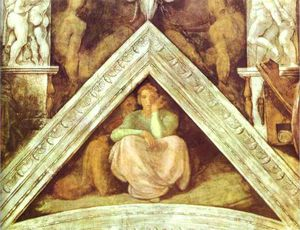 Michelangelo Buonarroti - The Ancestors of Christ; Jesse, David and Solomon