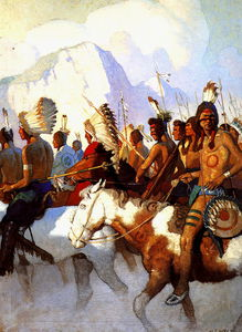 Nc Wyeth - an indian war party