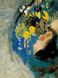 Odilon Redon - Ophelia - Pastel on paper mounted on board -