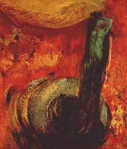 Odilon Redon - the green death after