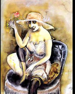 Otto Dix - girl with rose