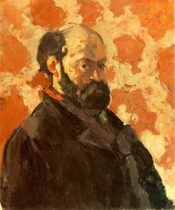 Paul Cezanne - Self-Portrait on a Rose Background -