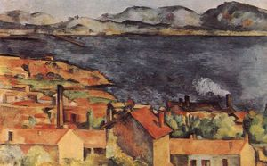 Paul Cezanne - view of lestaque