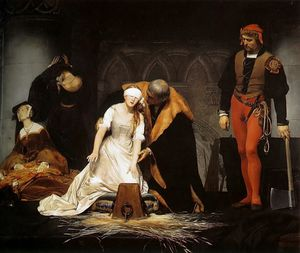 Paul Delaroche (Hippolyte Delaroche) - The Execution of Lady Jane Grey