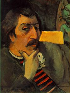Paul Gauguin - Portrait of the artist with an idol