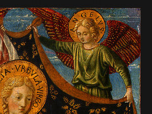 Benozzo Gozzoli - Saint Ursula with Angels and Donor