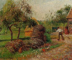 Camille Pissarro - mother luciens yard.