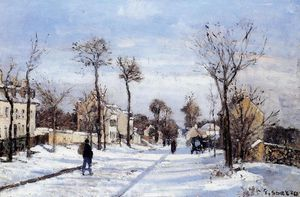Camille Pissarro - Street in the Snow, Louveciennes.