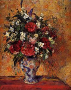 Camille Pissarro - Vase of Flowers.