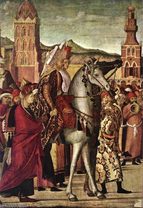The Triumph of St George (detail - ) by Vittore Carpaccio (1465-1526, Italy)
