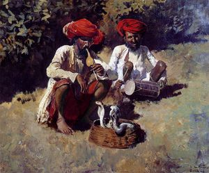 Edwin Lord Weeks - the snake charmers bombay
