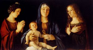 Giovanni Bellini - virgin and child betwwn st catherine and st mary