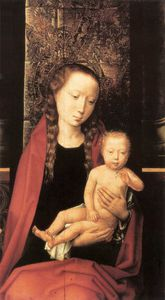 Hans Memling - Virgin and Child Enthroned (detail 1) -